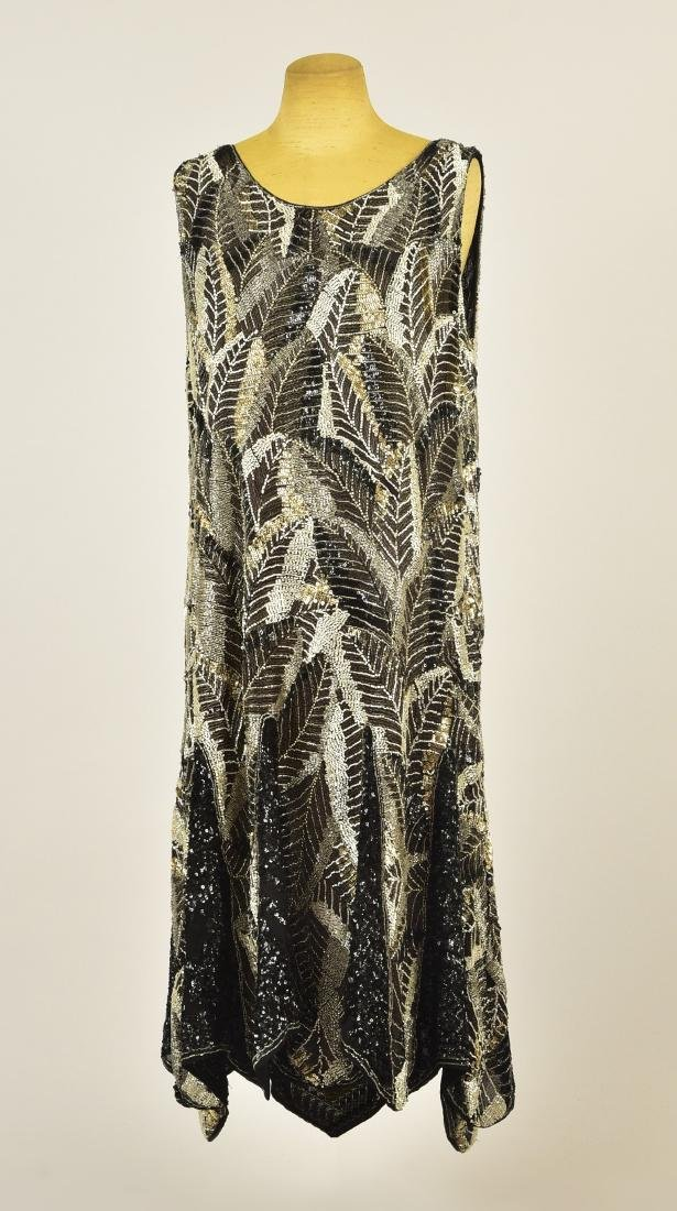 BEADED and SEQUINED DRESS, c. 1927