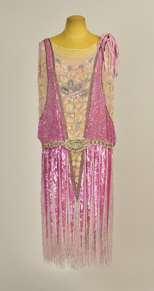FRENCH BEADED CHIFFON EVENING DRESS, 1927
