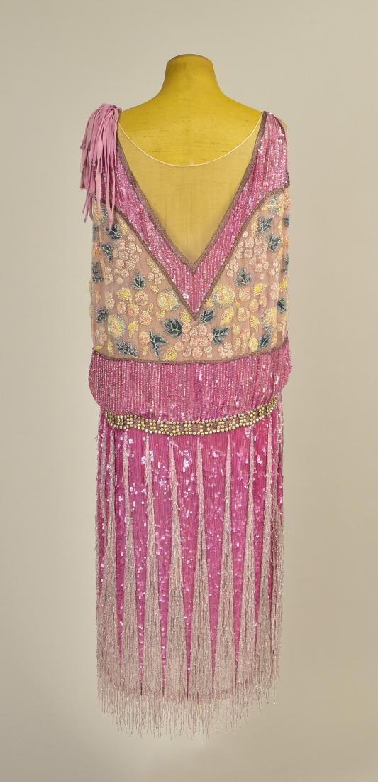 FRENCH BEADED CHIFFON EVENING DRESS, 1927 - 2