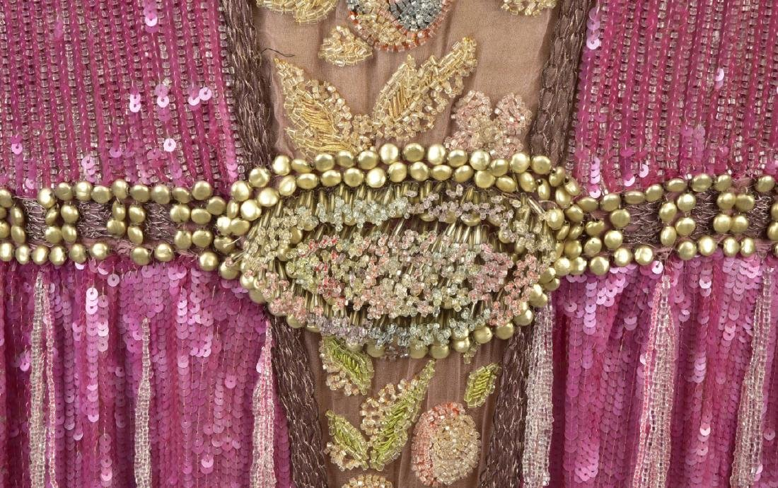 FRENCH BEADED CHIFFON EVENING DRESS, 1927 - 3