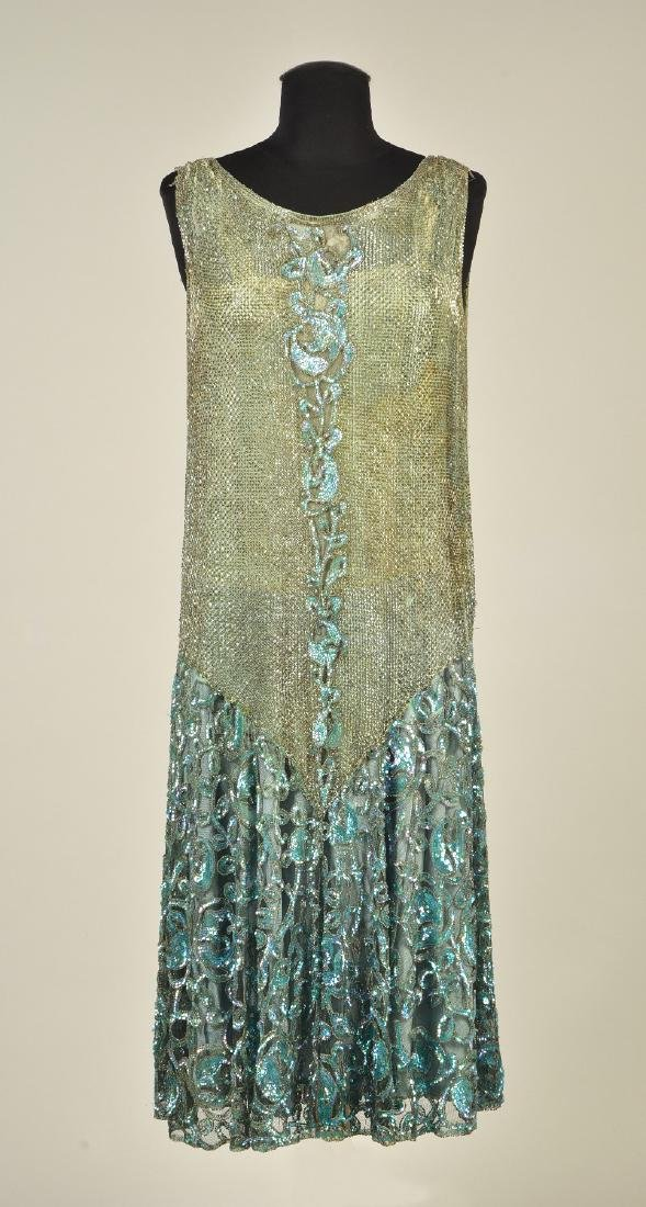 BEADED and SEQUINED NET DRESS, 1927