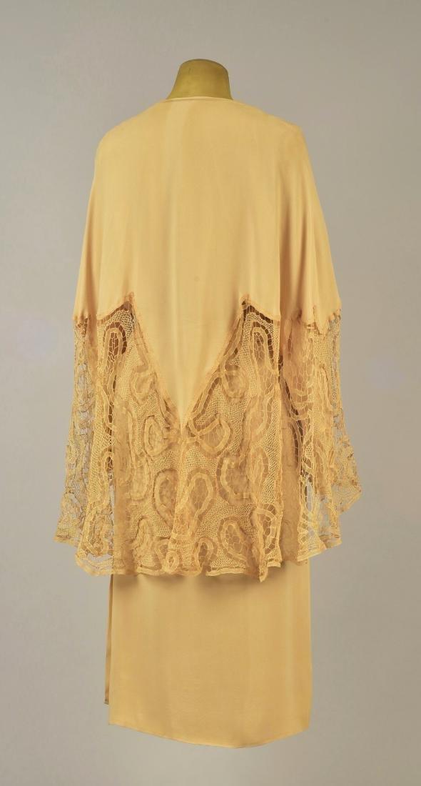 SILK WRAPAROUND DAY DRESS, possibly LANVIN, 1930s - 2