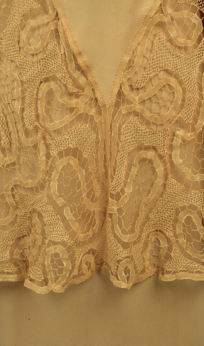 SILK WRAPAROUND DAY DRESS, possibly LANVIN, 1930s - 3