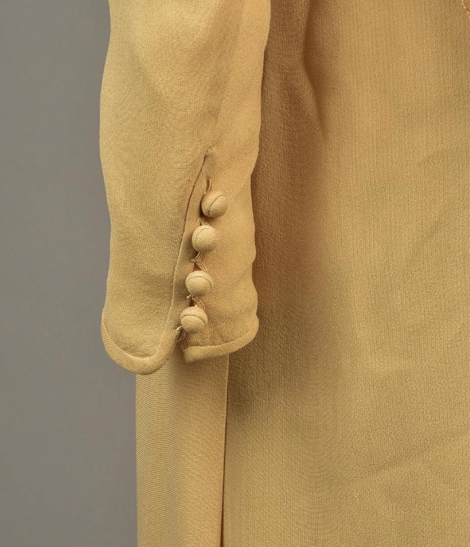 SILK WRAPAROUND DAY DRESS, possibly LANVIN, 1930s - 4