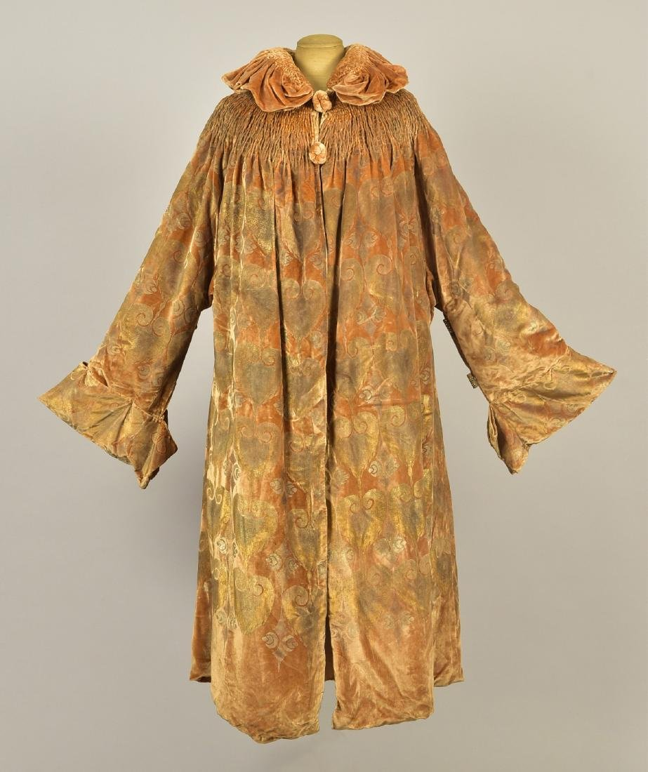 GALLENGA SATIN and VELVET COAT with DRESS, 1922