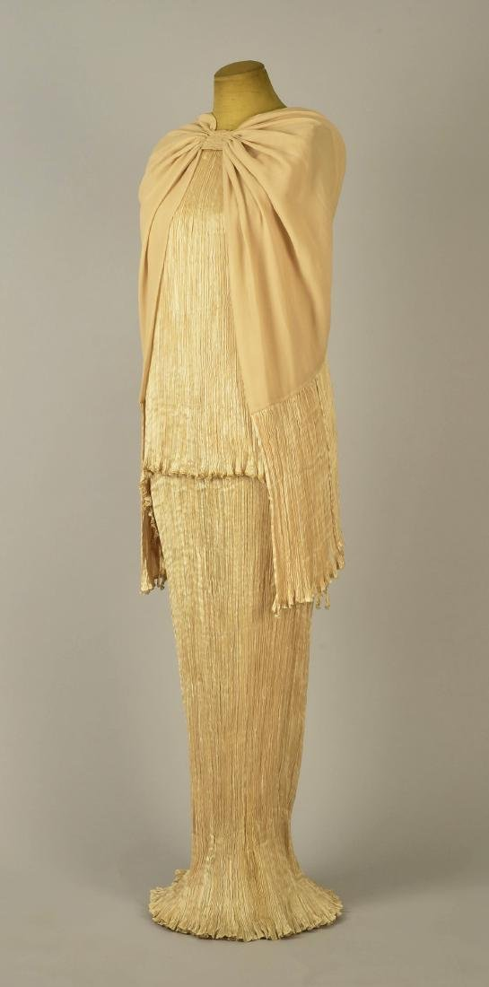 FORTUNY PEPLOS GOWN and CAPE, 1920s