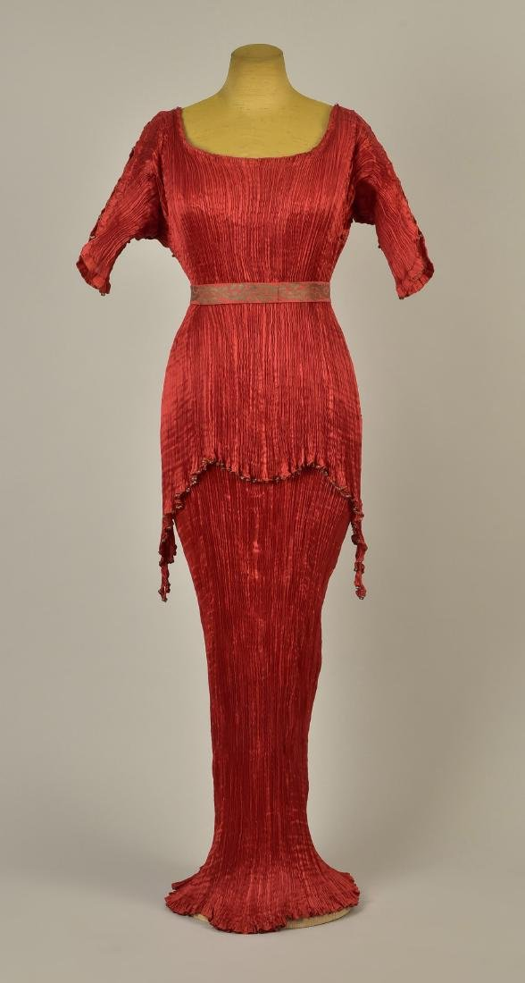 FORTUNY PEPLOS GOWN with STENCILED BELT, 1927