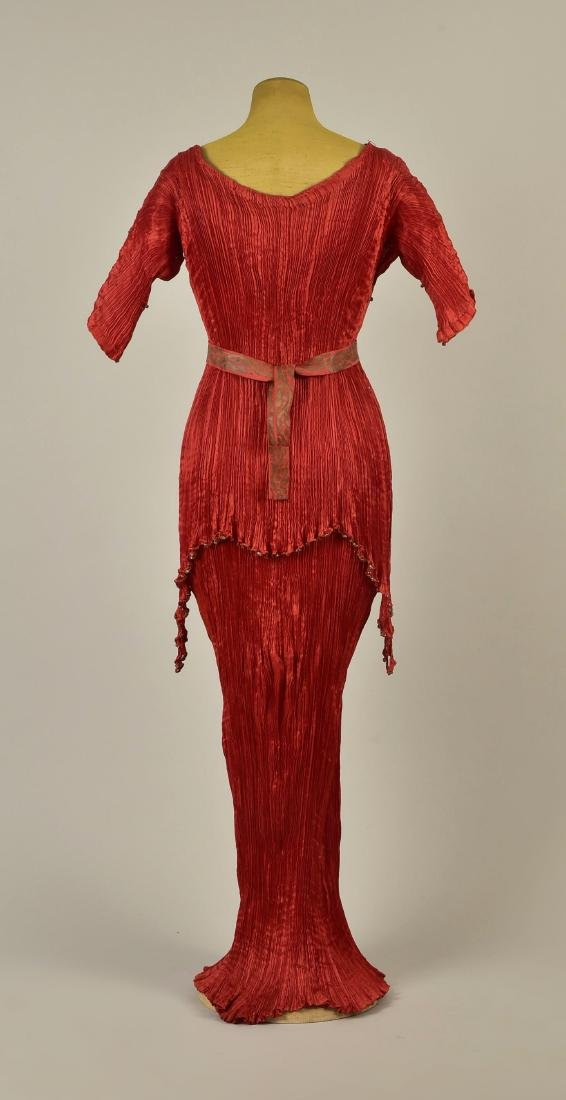 FORTUNY PEPLOS GOWN with STENCILED BELT, 1927 - 2