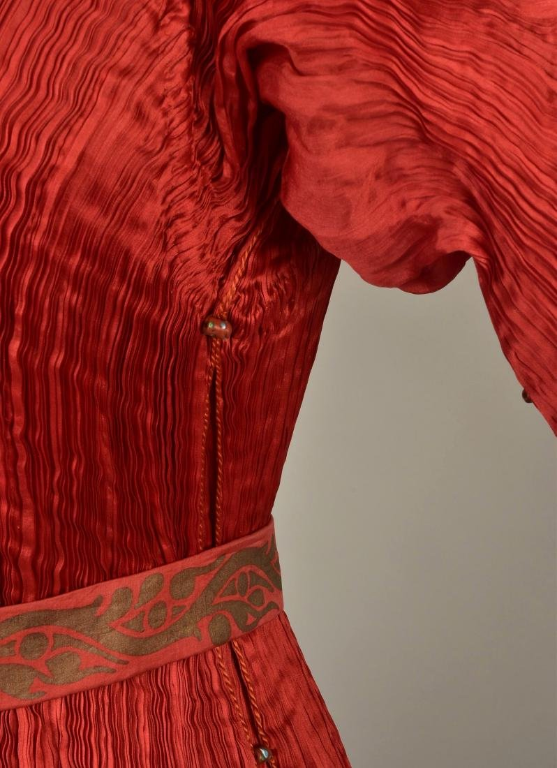 FORTUNY PEPLOS GOWN with STENCILED BELT, 1927 - 4