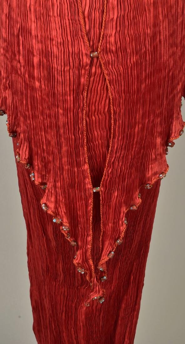 FORTUNY PEPLOS GOWN with STENCILED BELT, 1927 - 5