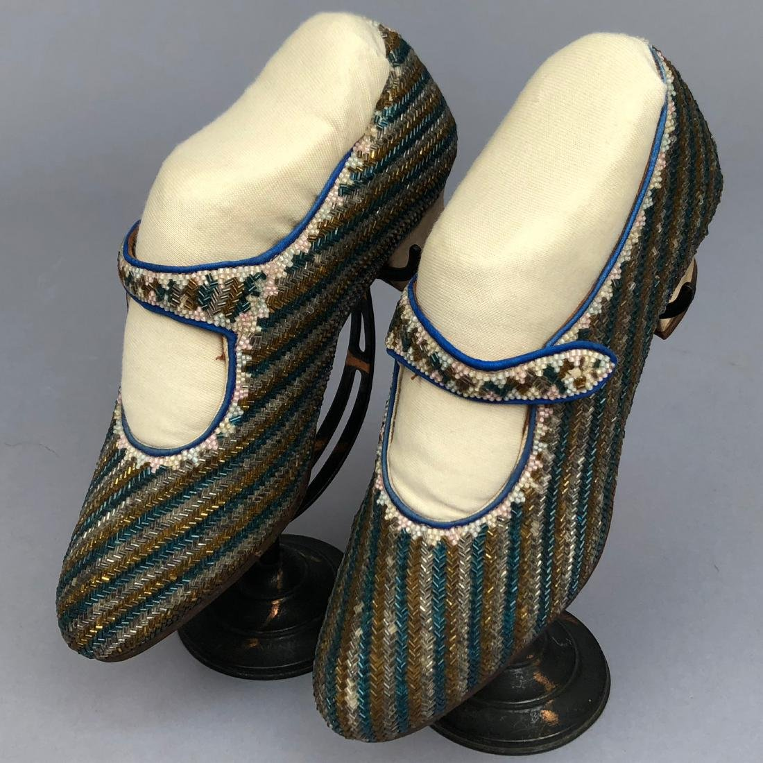 BEADED PUMPS with ANKLE STRAP, c. 1925