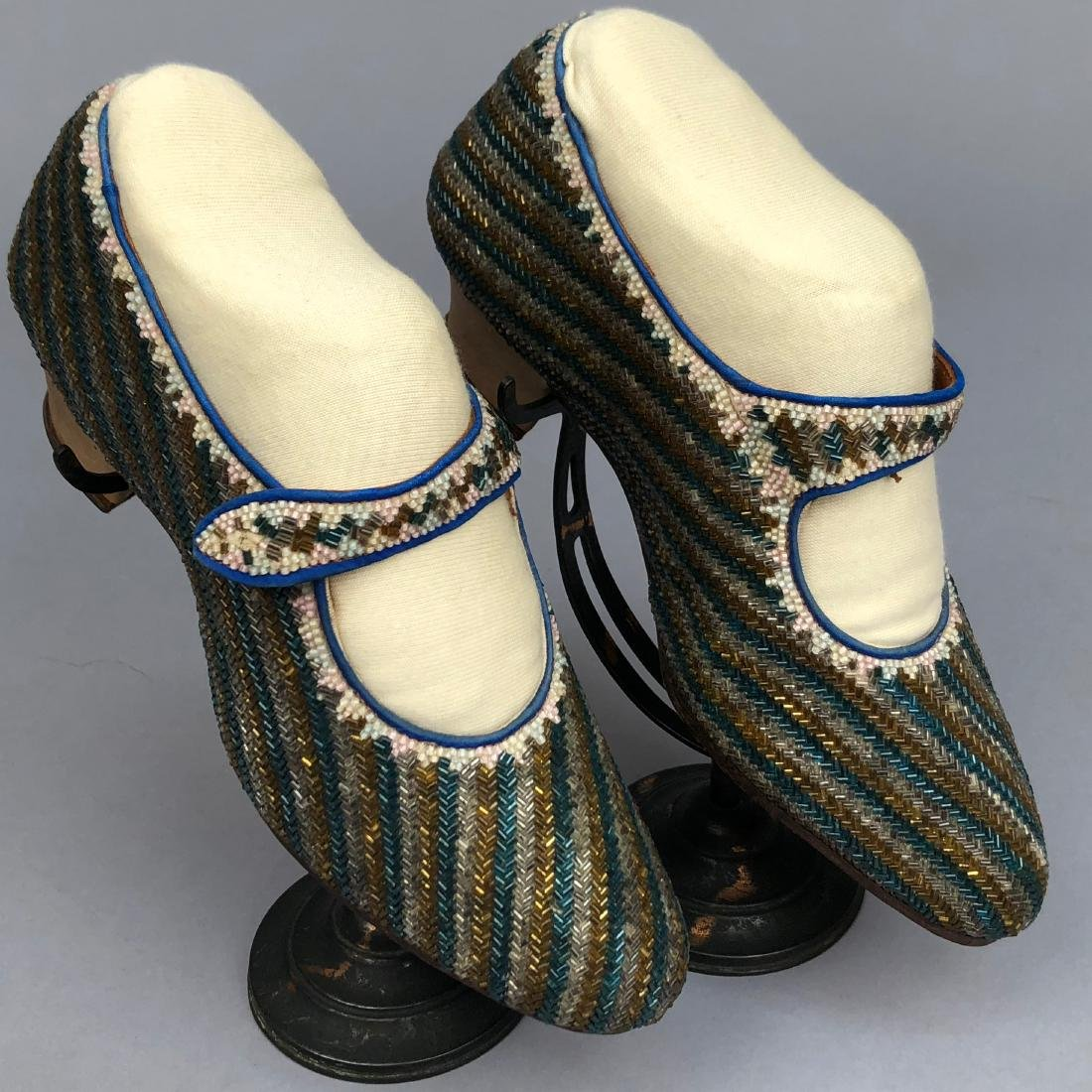 BEADED PUMPS with ANKLE STRAP, c. 1925 - 2