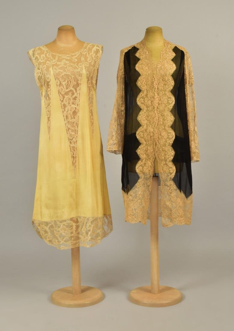 TWO PIECES SILK and LACE LINGERIE, QUEEN MARINA of