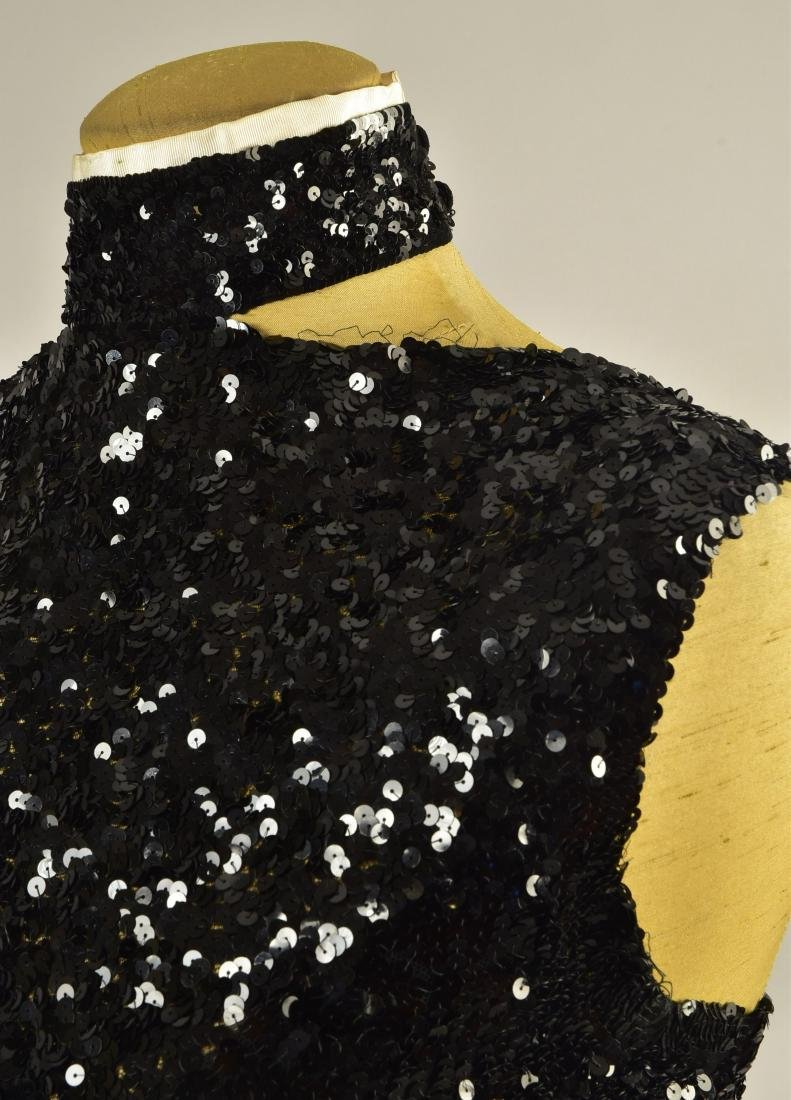 TRAINED SEQUINED GOWN with JACKET, 1930s - 4
