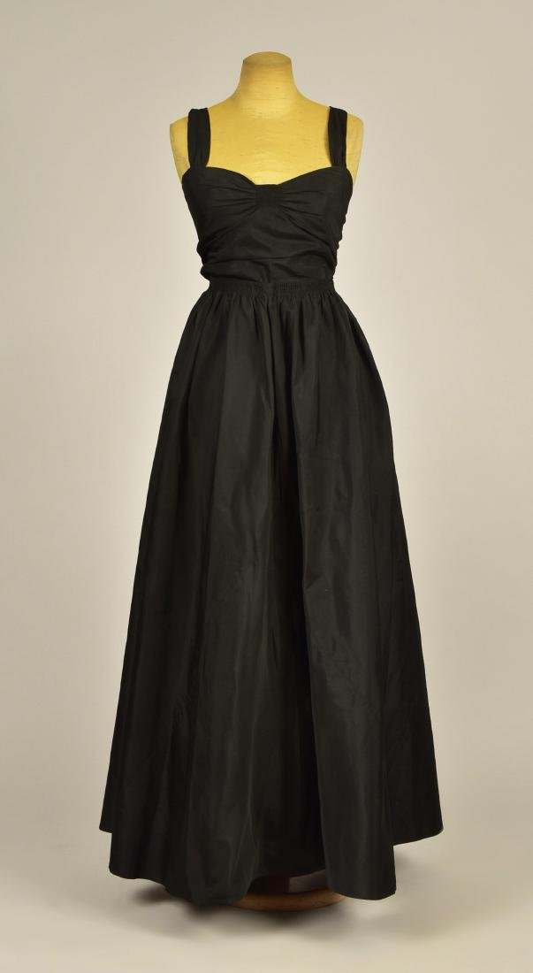 CHANEL COUTURE 2-PIECE SILK EVENING GOWN, c. 1930