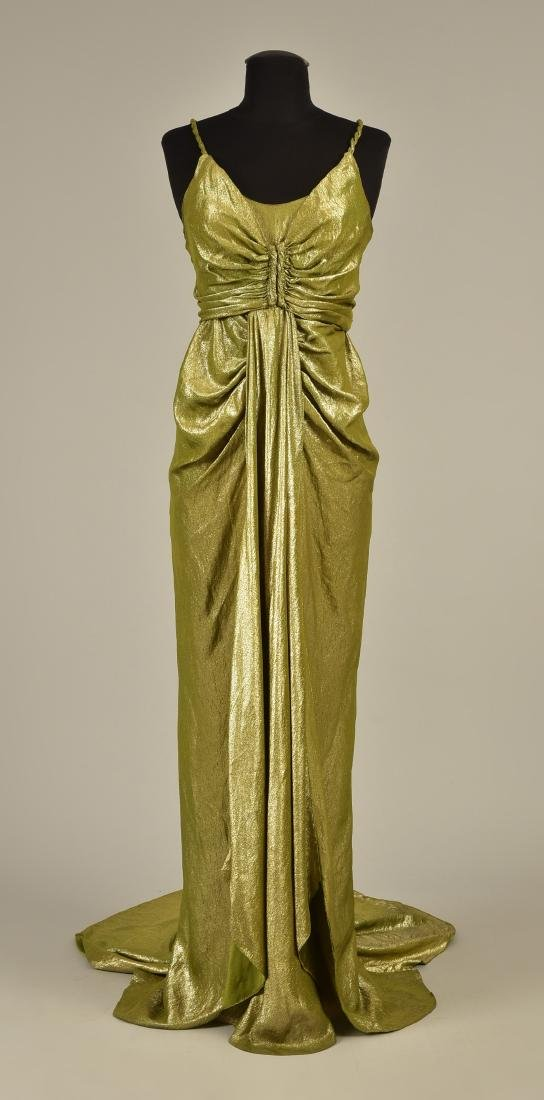 SILVER LAME EVENING GOWN, possibly SCHIAPARELLI, 1930s