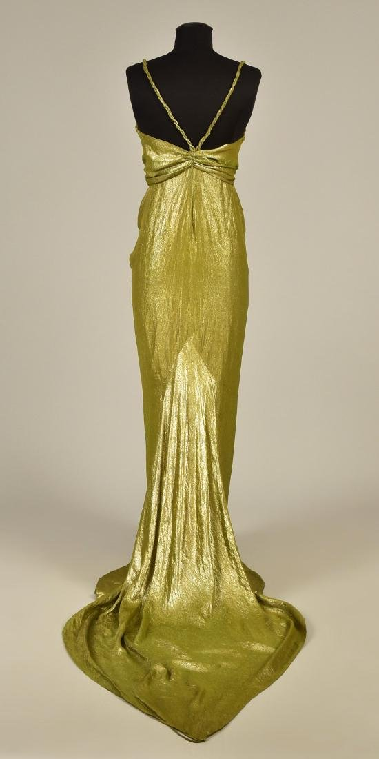 SILVER LAME EVENING GOWN, possibly SCHIAPARELLI, 1930s - 2