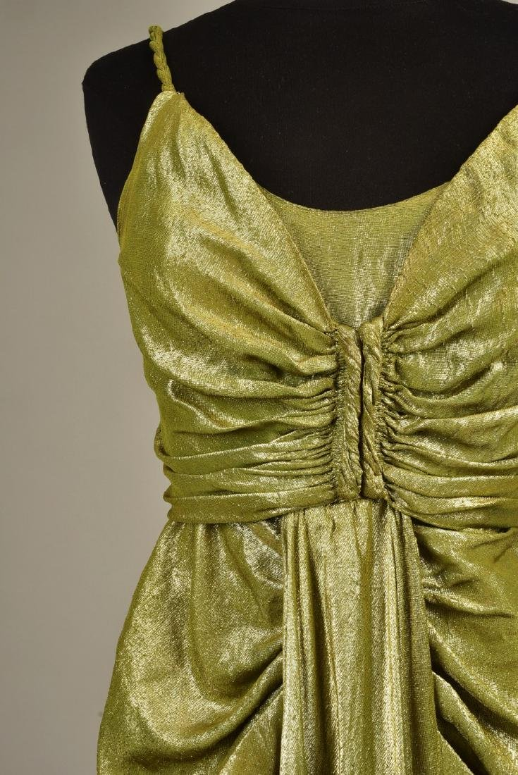 SILVER LAME EVENING GOWN, possibly SCHIAPARELLI, 1930s - 3