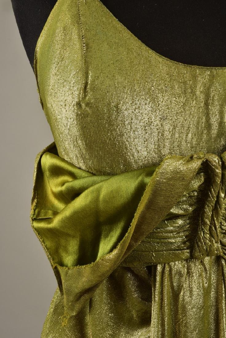 SILVER LAME EVENING GOWN, possibly SCHIAPARELLI, 1930s - 5