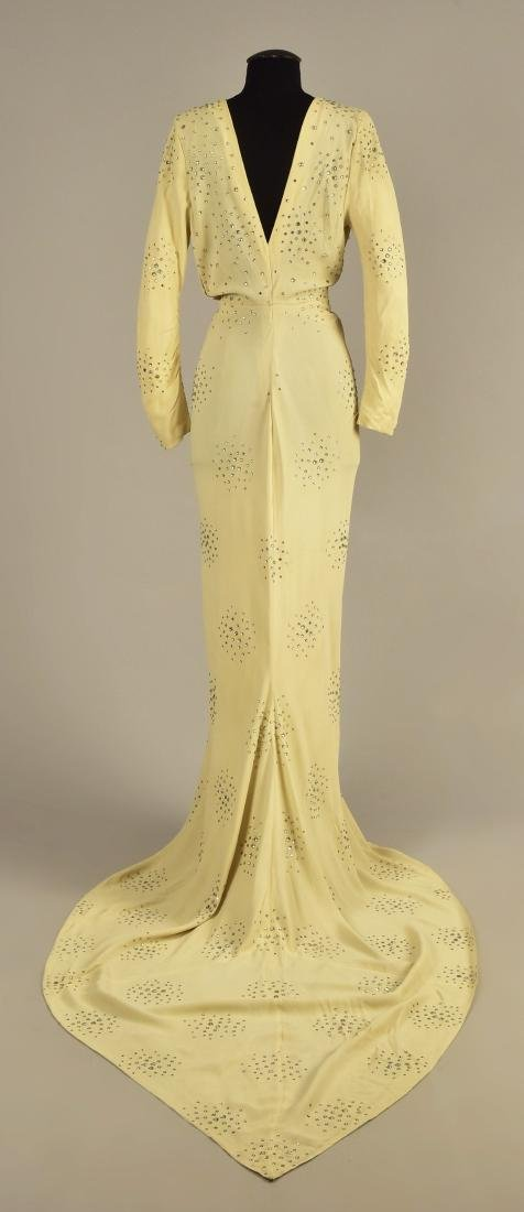 CREPE GOWN with DIAMANTE, possibly SCHIAPARELLI, 1930s - 2
