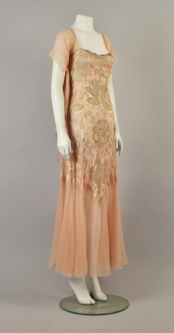 CHIFFON GOWN with DIAMANTE, attributed to VIONNET, c.