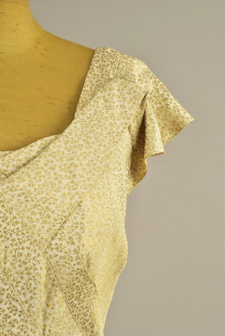 ENGLISH TRAINED CREAM and GOLD EVENING GOWN, 1937 - 3