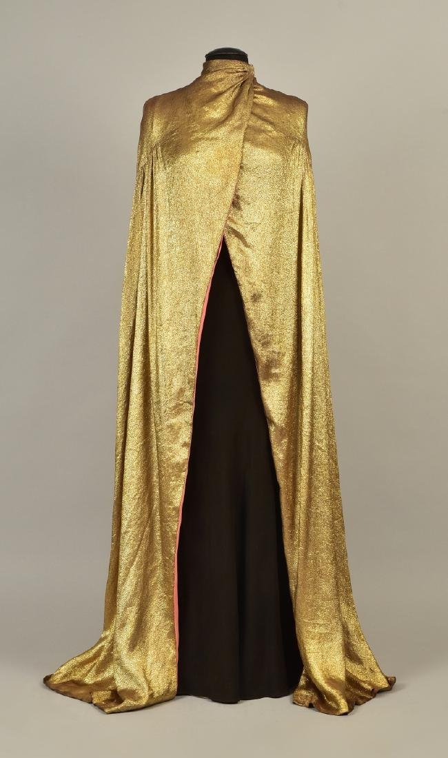 MAGGY ROUFF CLOTH of GOLD EVENING CLOAK, 1930s