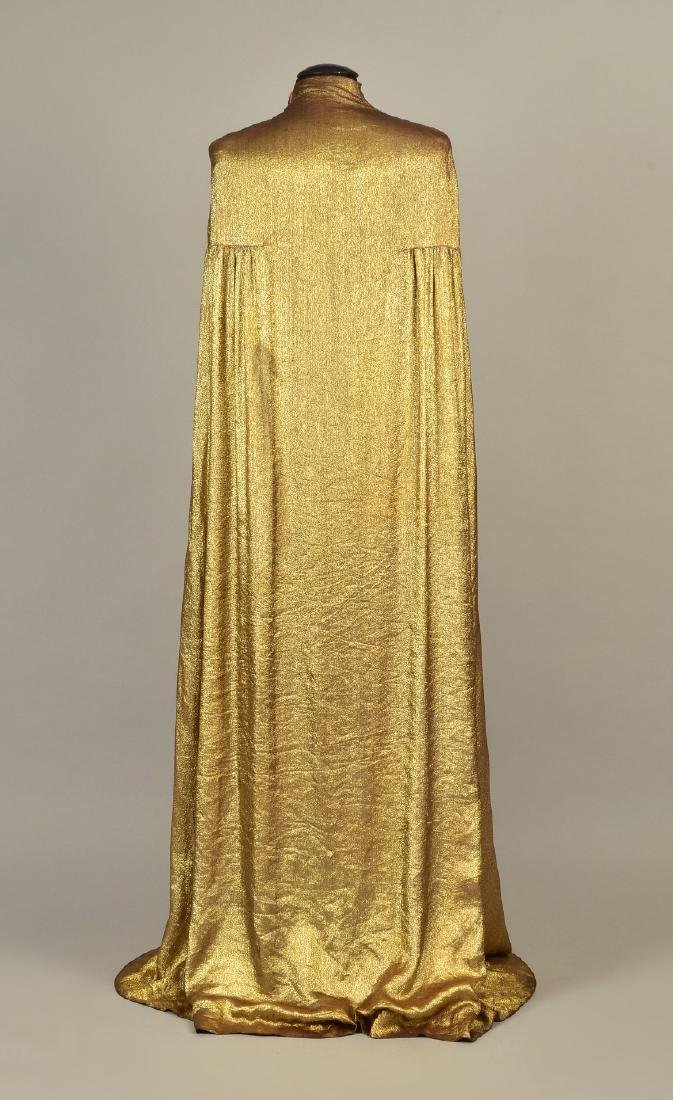 MAGGY ROUFF CLOTH of GOLD EVENING CLOAK, 1930s - 2