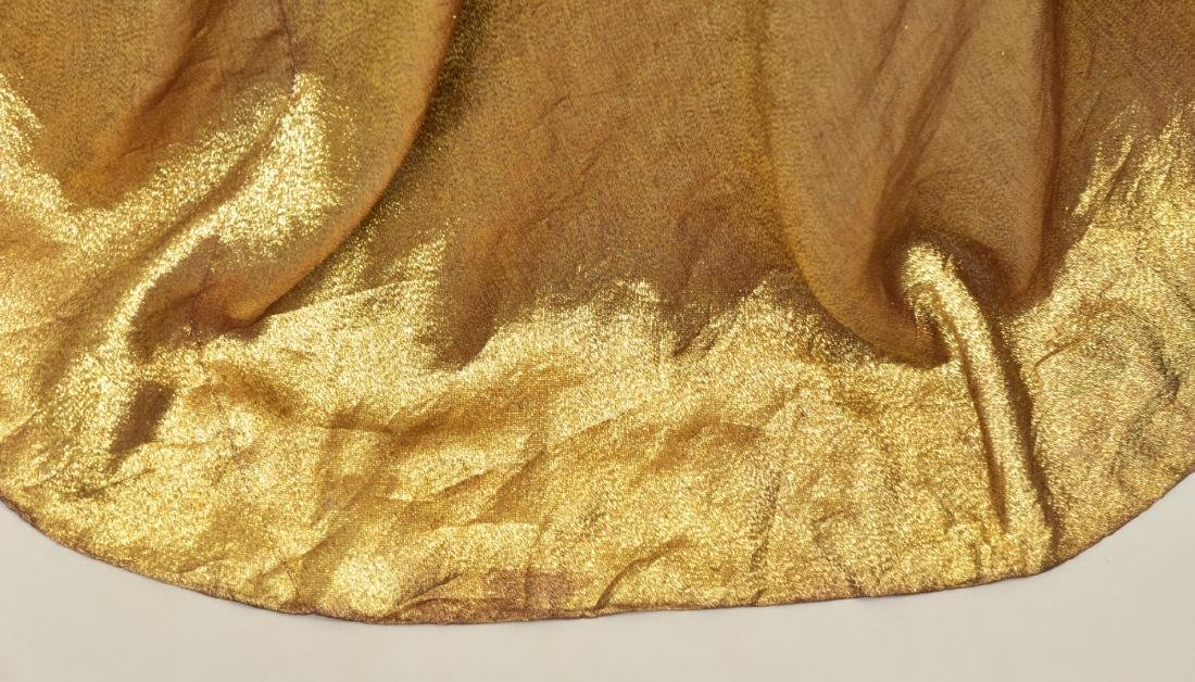 MAGGY ROUFF CLOTH of GOLD EVENING CLOAK, 1930s - 4