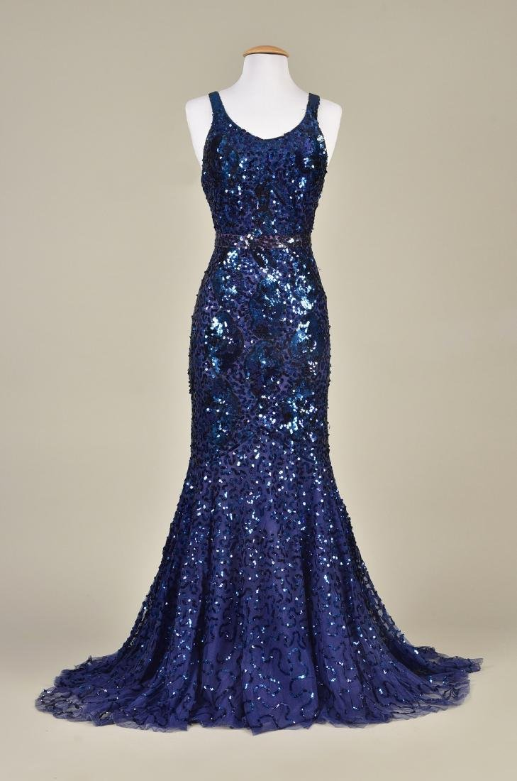 SEQUINNED NET EVENING GOWN c. 1930