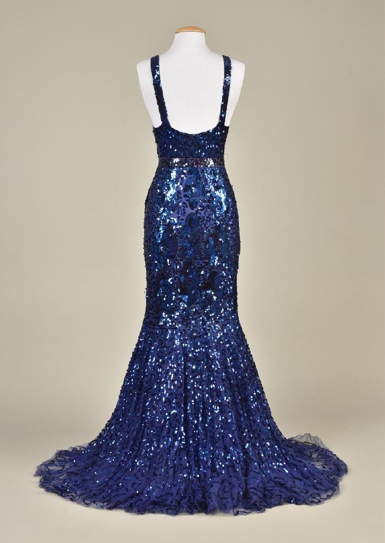 SEQUINNED NET EVENING GOWN c. 1930 - 2