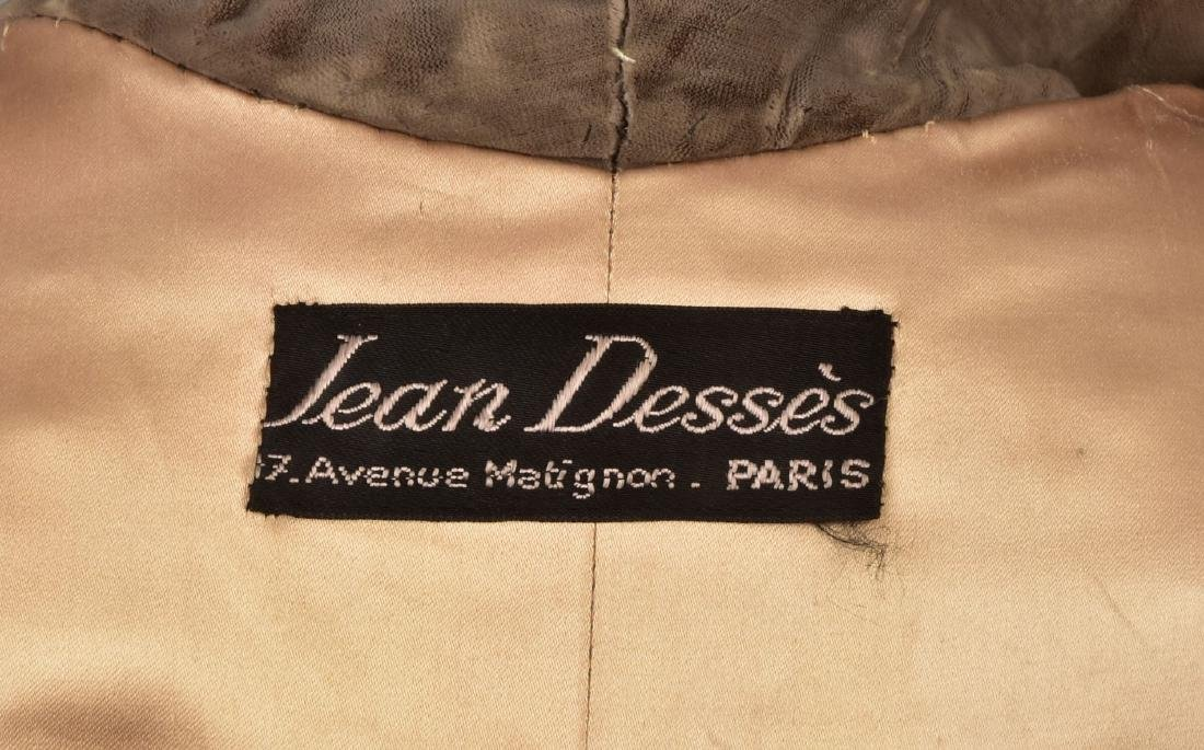 JEAN DESSES COUTURE VELVET COAT, c. 1950 - 5