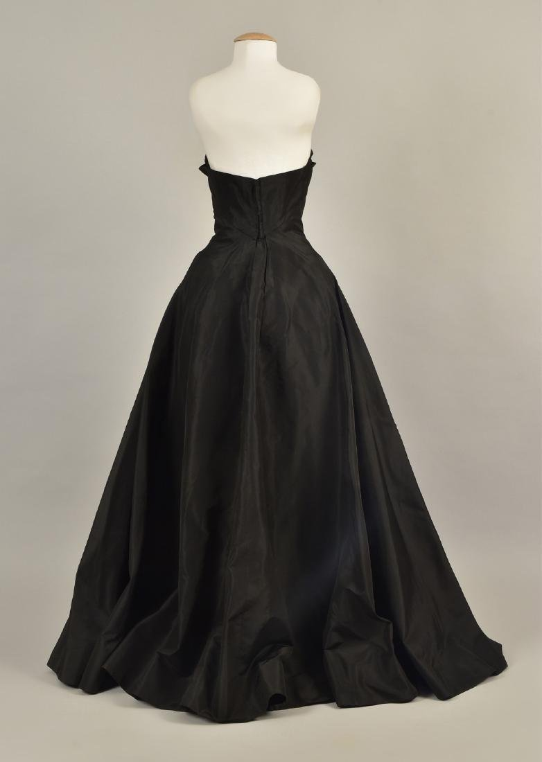 STRAPLESS TAFFETA and CHIFFON EVENING GOWN, 1950 - 2