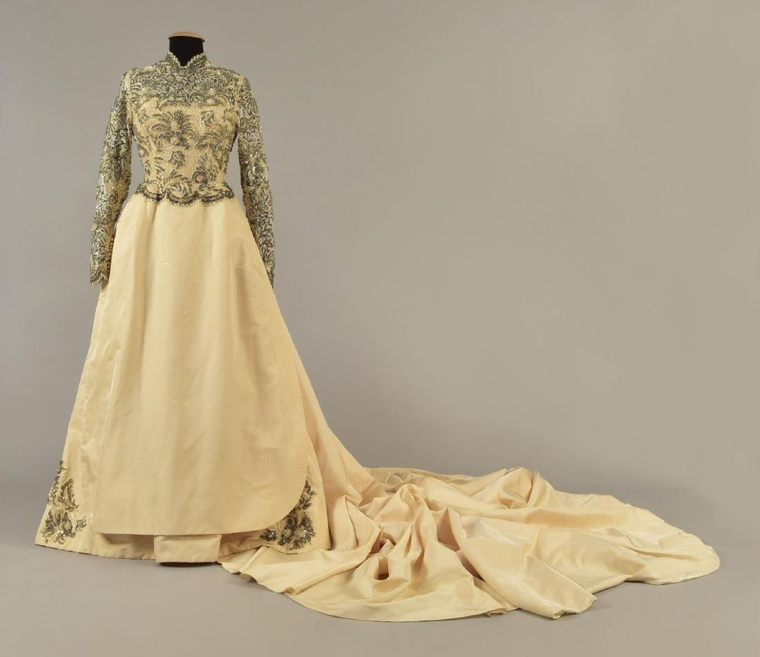 MICHAEL NOVARESE WEDDING GOWN with CATHEDRAL TRAIN,