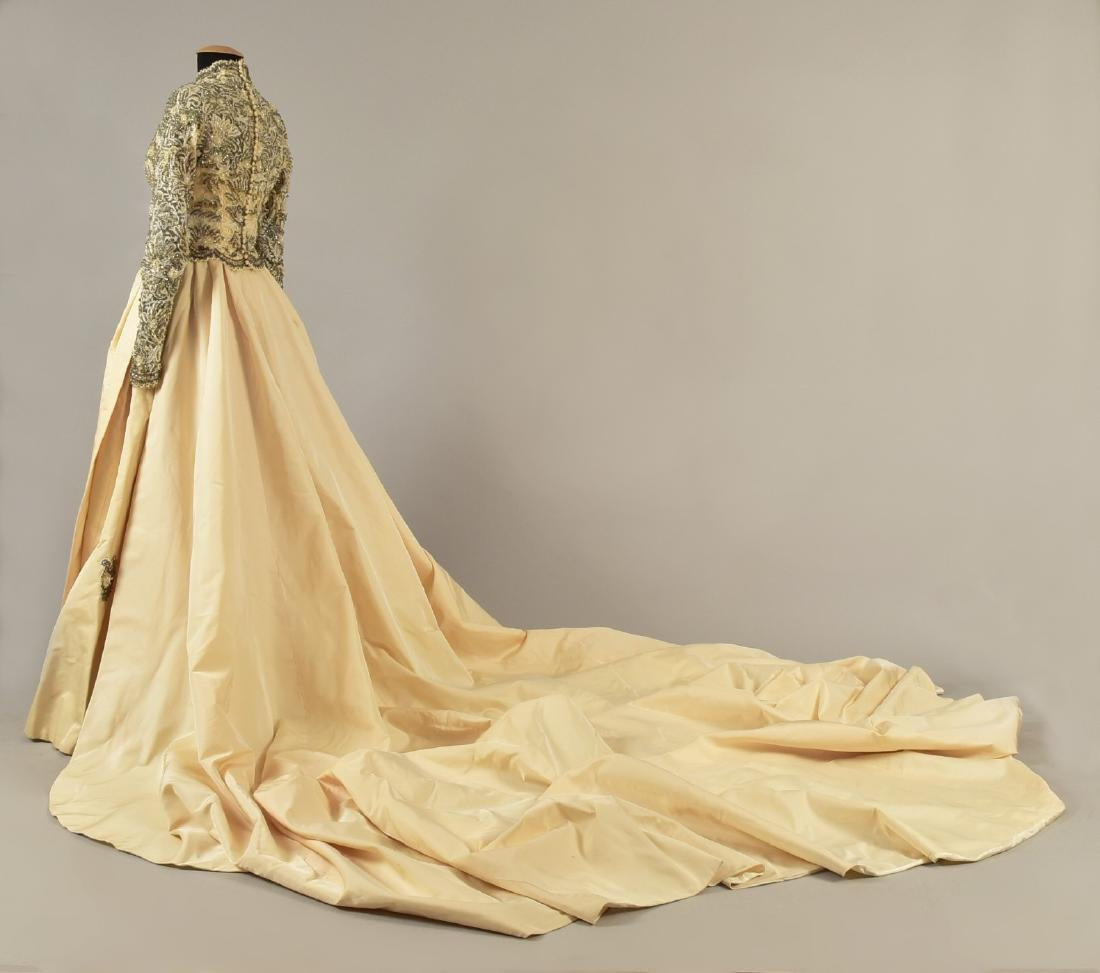MICHAEL NOVARESE WEDDING GOWN with CATHEDRAL TRAIN, - 2