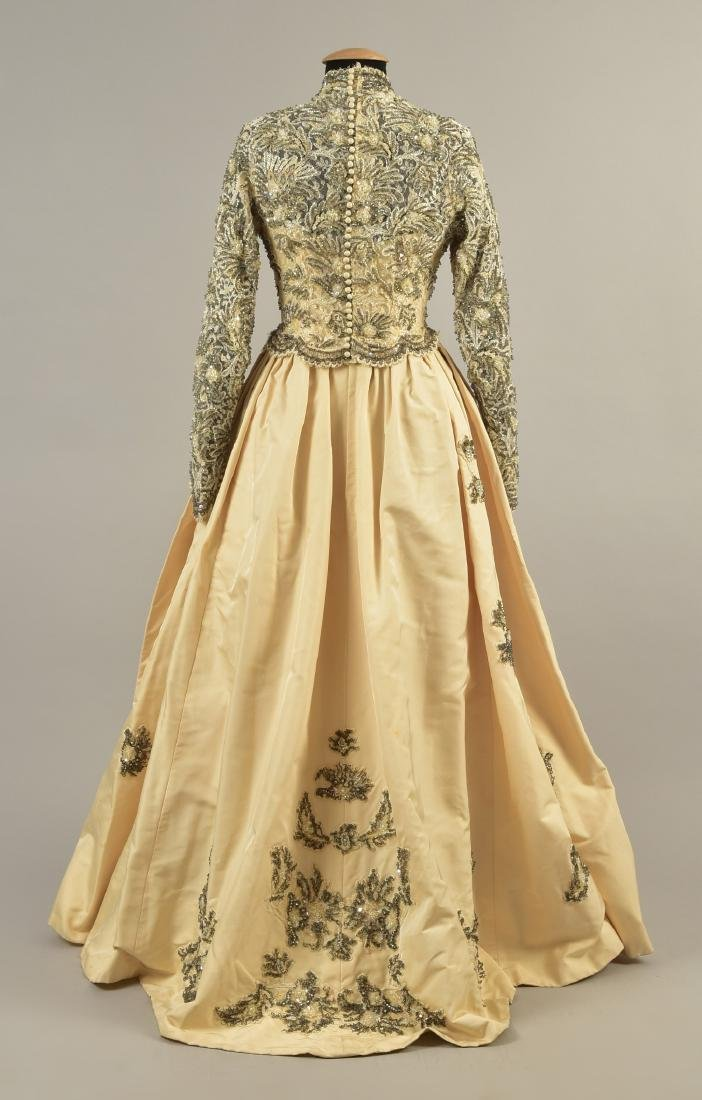 MICHAEL NOVARESE WEDDING GOWN with CATHEDRAL TRAIN, - 3