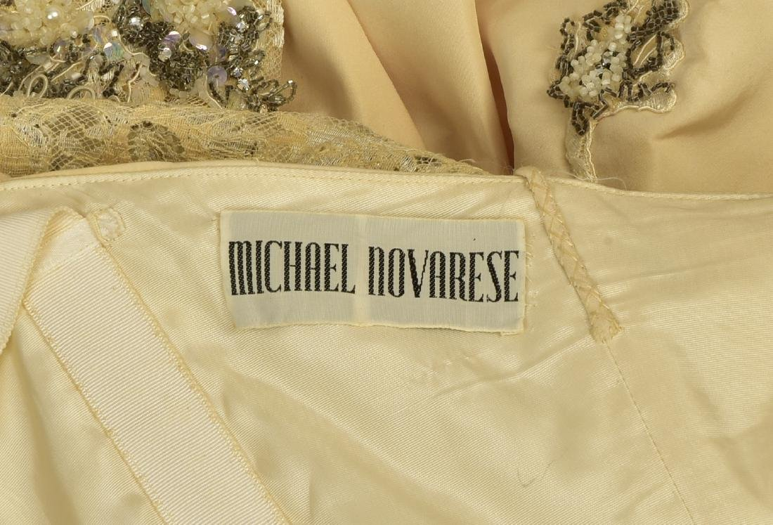 MICHAEL NOVARESE WEDDING GOWN with CATHEDRAL TRAIN, - 6
