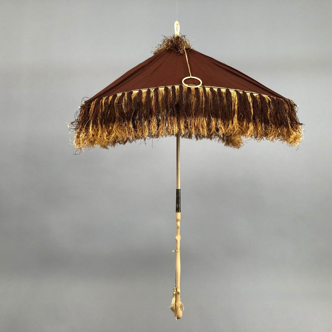 SQUARE SILK FOLDING PARASOL, 1840s