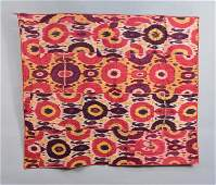 SILK IKAT BEDCOVER, CENTRAL ASIA, MID 20th C