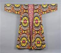 SILK IKAT ROBE, CENTRAL ASIA, MID 20th C