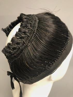 RARE REGENCY PERIOD WOMANS HAIR CAP, HAIRPIECE, EARLY