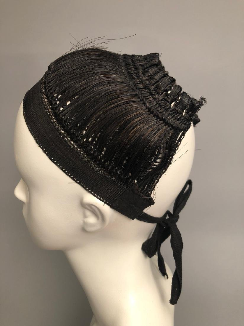 RARE REGENCY PERIOD WOMANS HAIR CAP, HAIRPIECE, EARLY - 2