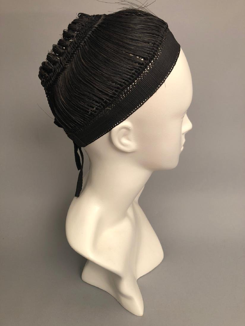 RARE REGENCY PERIOD WOMANS HAIR CAP, HAIRPIECE, EARLY - 5