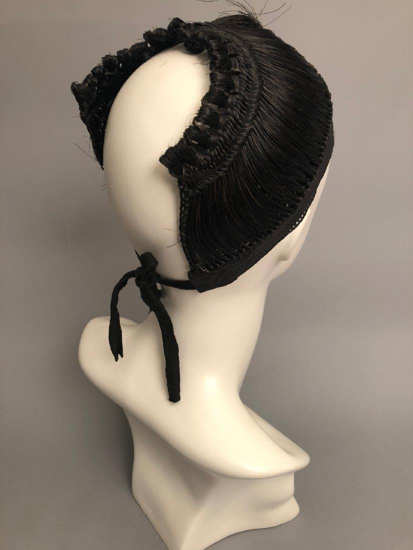 RARE REGENCY PERIOD WOMANS HAIR CAP, HAIRPIECE, EARLY - 6