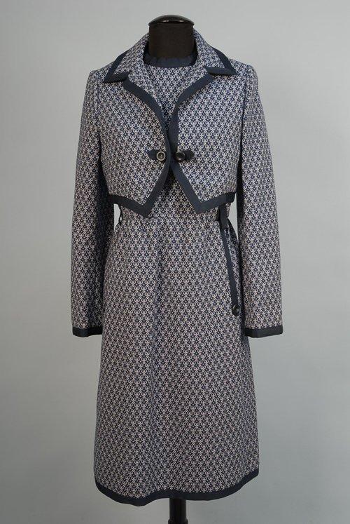 526: GEOFFREY BEENE DRESS AND JACKET SET, 1960s-1970s.