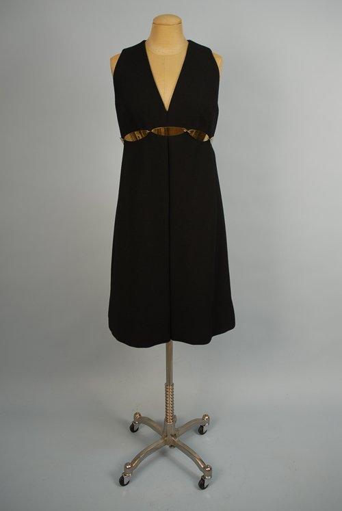 529: BILL BLASS FOR MAURICE RENTNER BLACK WOOL DRESS, 1