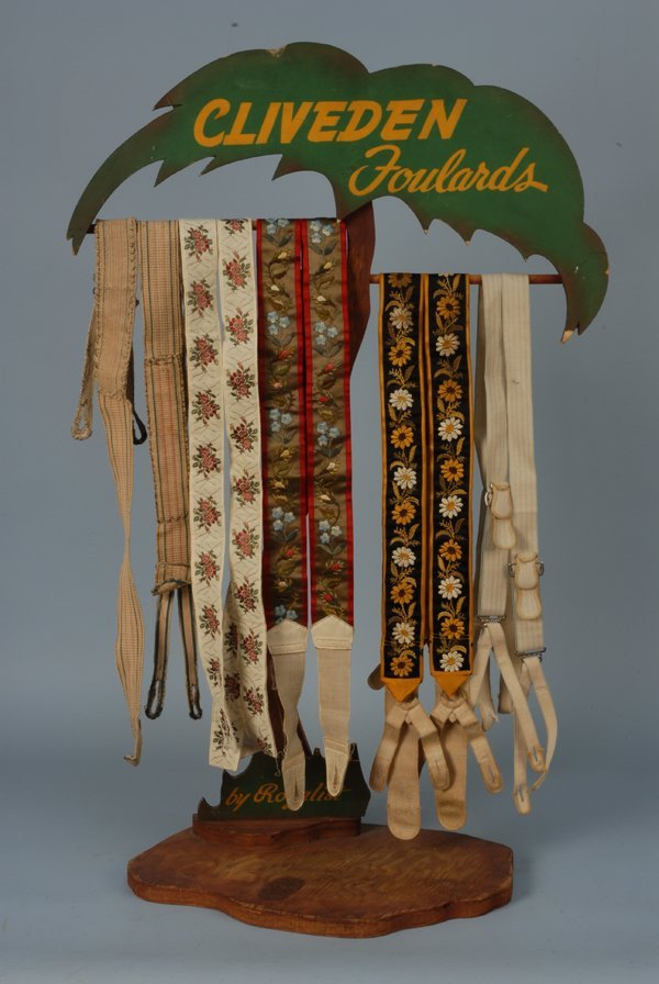 588: FIVE PAIR GENT'S BRACES, 1845-1900 Two embroidered