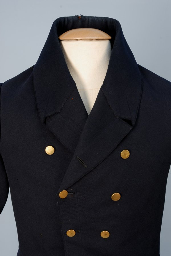 912: GENT'S TAIL COAT, 1825-1840 Double breasted blue w - 2
