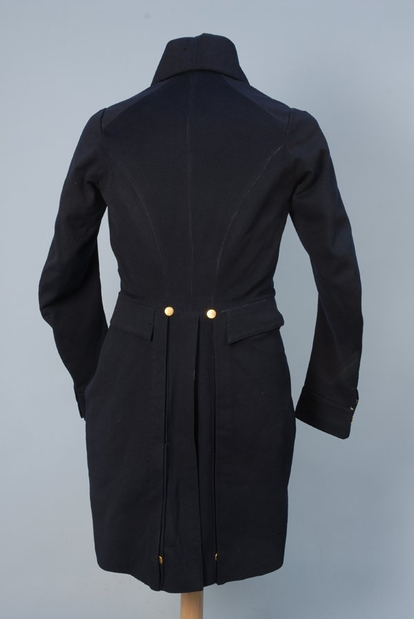 912: GENT'S TAIL COAT, 1825-1840 Double breasted blue w - 4