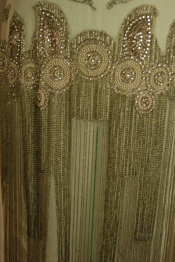 303: JEWELED FLAPPER DRESS with BEADED FRINGE, 1920's.  - 3